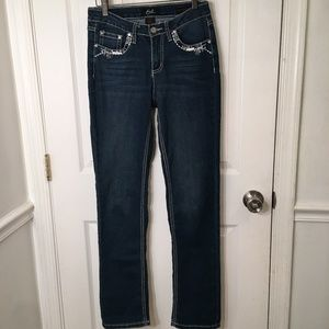 Earl Jeans Straight Leg Distressed Jeans - size 4